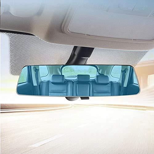 Espejo Retrovisor Universal para Automóvil, MoreChioce Espejo Interior para Automóvil Espejo Retrovisor Gran Angular Espejo Panorámico para Automóvil para Automóvil SUV, 280 x 72 mm