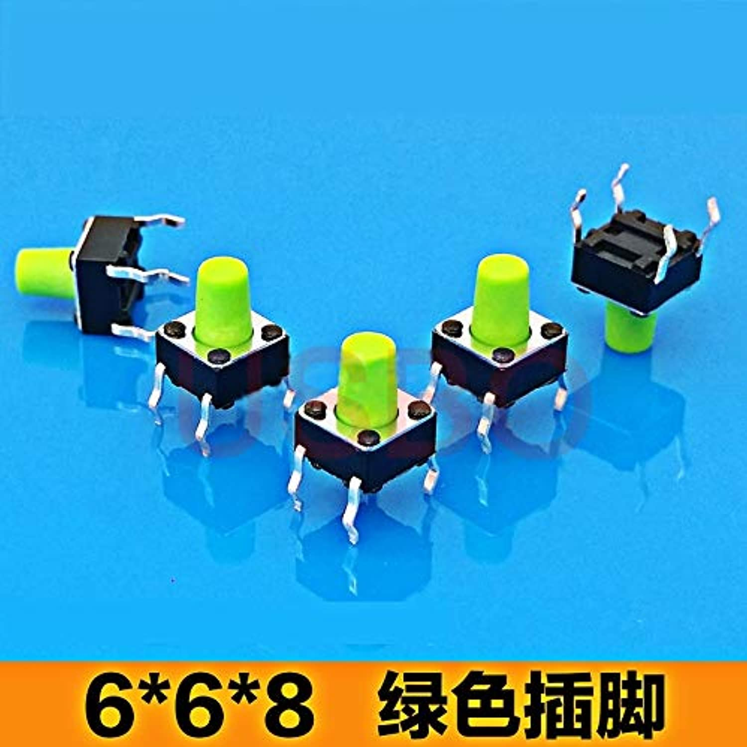 Brass Touch Switch with Button Tactile Push Button Switch 6  6  8mm 4 Legs Green blueee Brown  (color  blueee)