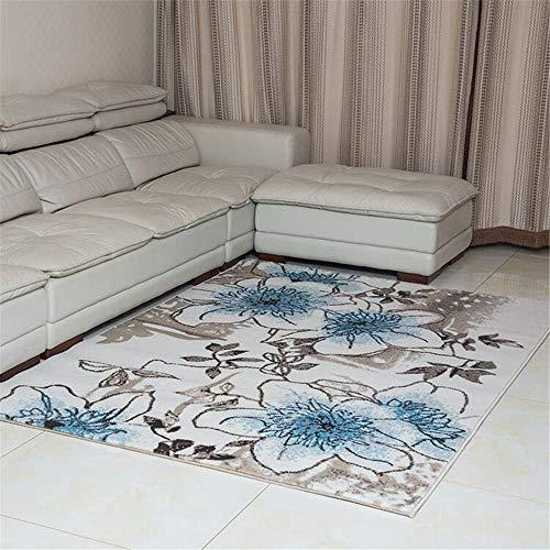 Alfombras Grandes Para Salon azul Alfombra de sala de estar alfombra duradera con estampado de flore