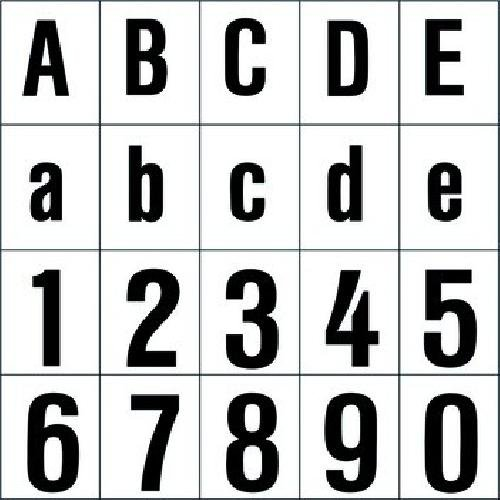 RZB Zimmermann Ziffer sw 120mm 99223.013.3 f.d.superflache HNL Beschriftung für Hausnummernleuchte 4010319325530