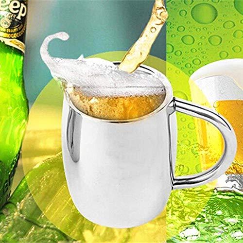 juman634 Jarra de Cerveza de Acero Inoxidable con manija y Taza de Cerveza Exclusiva de KTV Jarra de Cerveza Copa de Leche de cóctel Grande