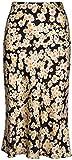 Floral High Waist Daisy Skirt for Women Flowers Silk Satin Midi Skirts XL