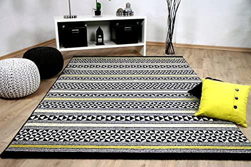 Sevilla - Tapis de Designer - Moderne rayé- Gris/Anthracite - 5 Tailles Disponibles