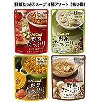 【Amazon.co.jp限定】 カゴメ 野菜たっぷりスープ 4種×各2個 [トマ...