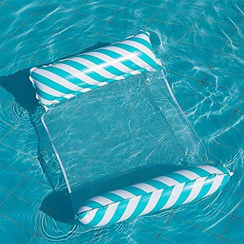 Hamaca de Agua, Hamaca de Flotador de Piscina Premium, Hamaca Inflable Multiusos Piscina Playa Reclinadora Flotante para Adultos,Azul
