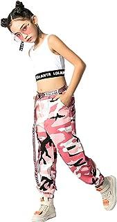 Dziewczęca sukienka hip hop Street Dance zestaw Jazz tancerz top + spodnie kamuflażowe