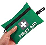 Mini First Aid Kit,92 Pieces Small First Aid Kit - Includes Emergency Foil Blanket, CPR Respirator,Scissors...