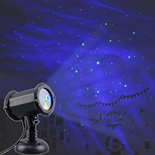 Poeland Star Laser Projector Christmas Light with LED Blue Nebula Cloud Starlight Suitable for Bedroom Decoration, Family Party, KTV, Dance Halls, Clubs, Bars, Kids Party, Dance Floor