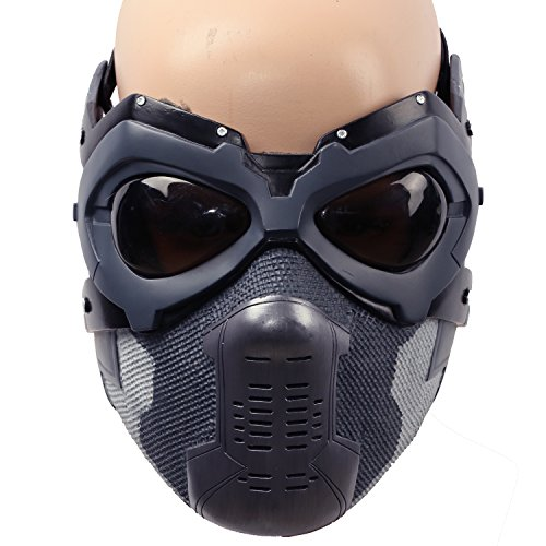 The Winter Cool Soldier Bucky Mask - V6 Glass Deluxe version for Men by Xcostume
