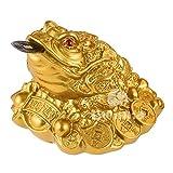 BWINKA Feng Shui Dinero Lucky Frog Coin Toad / Chan Chu Encanto Chino de la Prosperidad Inicio Decoración regalo (Idea para escritorio de oficina, computadora, libro / TV Shelf