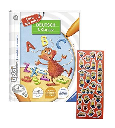 tiptoi Ravensburger Buch - Lern mit Mir! Deutsch 1. Klasser + Minions-Sticker