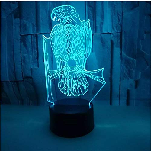 Nuevo Eagle 3D Nightlight para Navidad lámparas de mesa decorativas luces niños juguetes lámpara de escritorio