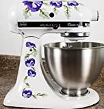 Purple Poppy Flowers Watercolor Vinyl Decals for Kitchen Mixers