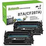 Aztech Compatible Toner Cartridge Replacement for HP 87A CF287A 87X CF287X Laserjet Enterprise M506 M506dn M506n M506x M527dn Laserjet Pro M501dn (Black, 2-Packs)