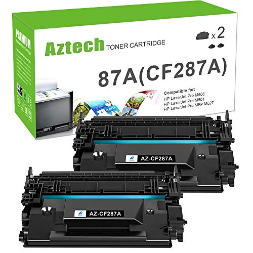Aztech Compatible Toner Cartridge Replacement for HP 87A CF287A 87X CF287X HP Laserjet Enterprise M506 M506dn M506n M506x HP Laserjet Pro M501 M501dn M527 M527dn (Black, 2-Pack)