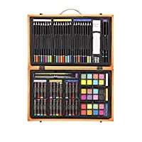 Darice- Caja de Madera con Set artístico Profesional, Multicolor, 14.5x9.1x2.9 Inches (1103-08)