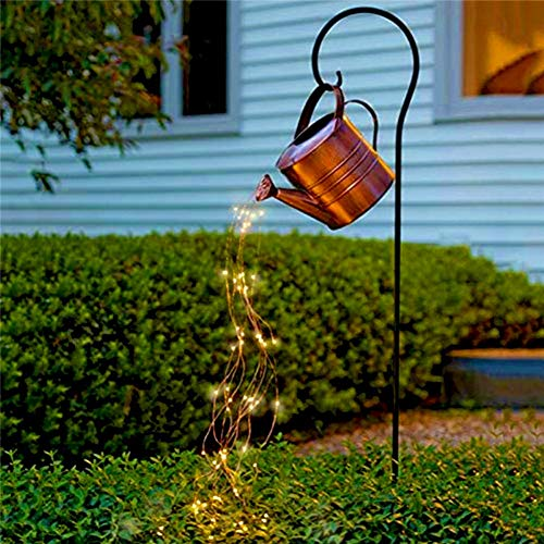 HOOJUEAN Watering Can Lights Outdoor Waterproof, LED Night Light, 35in String Lights, Duty Decorative Cafe Patio Lights For Bistro GardenWithout Bracket