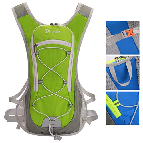 LHY EQUIPMENT Protable Bike Backpack, Lightweight Bicycle Cycling Backpack with Water Pipe Clamp for Outdoor Sports Travel Mountaineering Functional Gift, 8L, 32 * 8 * 47cm