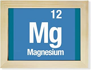 DIYthinker MG de magnesio Elemento químico Chem Escritorio de Madera Marco de la Foto del Arte Pintura 6X8 Pulgadas