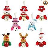 8pcs Colgante para Navidad Muñeco de Navidad, Adornos Navideños Adornos Árbol...