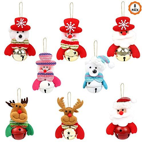 8pcs Colgante para Navidad Muñeco de Navidad, Adornos Navideños Adornos Árbol Navidad, Muñecos para Árbol de Navidad Muñeco de Papá Noel, Muñecas con Cuerda para Decoración del Hogar para Navidad