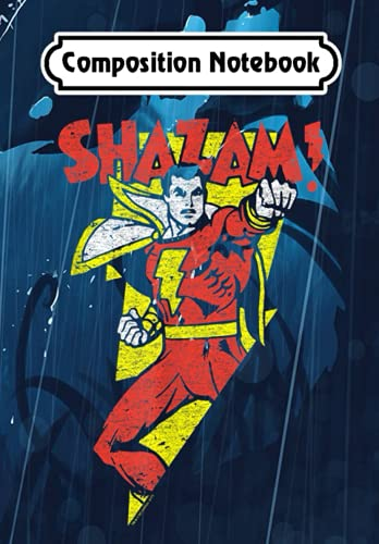Composition Notebook: Shazam! In Bolt, Journal 6 x 9, 100 Page Blank Lined Paperback Journal/Notebook