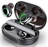 Audífonos Bluetooth inalámbricos, micrófono incorporado y caja de carga, emparejamiento automático de ventana emergente estéreo 3D, adecuado para iPhone / Android / Samsung