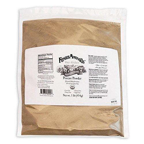Bulk Dried Organic Porcini Mushroom Powder - 1 lb - by FungusAmongUs