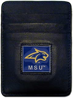 NCAA Montana State Bobcats Leather Money Clip/Cardholder Wallet