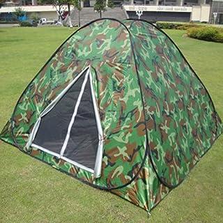 Pop up-tält för utomhusresor camping två kamouflagefärger vikt i en rund bärväska lätt att bära