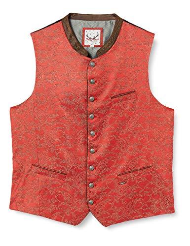 Stockerpoint Herren Weste Pepe Trachtenweste, Rot (Rot Rot), XXX-Large (Herstellergröße: 58)
