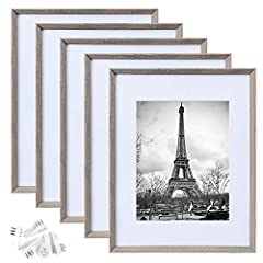 DURABLE MATERIAL&RUSTIC STYLE:These frames light but firm,has plastic cover instead of glass,when they fall to the ground you won't worry about hurting the kids. SIZE:These rustic frames are designed to fit a 8x10 photo with mat or,if you remove the ...