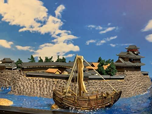 [城ミニ] 明智光秀ゆかりの城 坂本城 ケース付き お城 模型 ジオラマ完成品 ミニサイズ