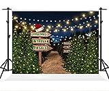 Kate 7×5ft(2.2×1.5m) Fondo de Navidad árbol de Navidad Camino Fotografía Telón de Fondo Elementos de Navidad Accesorios de Estudio