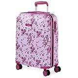 Lois - Maleta de Viaje Pequeña Cabina Infantil 4 Ruedas Trolley ABS Estampado Texturizado. Equipaje de Mano. Rígida Resistente y Ligera. Calidad y Diseño 131850, Color Fucsia