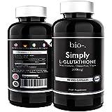 Biodash 500 Milligrams of Simply L-glutathione Capsules - 90 Vegetarian Tablets - Clear