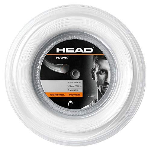 Head Hawk Rollo Cordajes de Raquetas de Tenis, Adultos Unisex, Blanco, 17