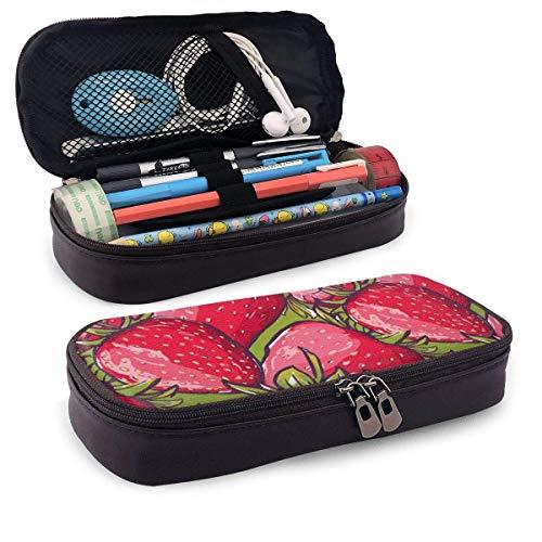 XCNGG Estuche para lápices neceser Big Strawberry Pencil Case Big Capacity Pen Case Desk Organizer with Zipper - 8x3.5x1.5 Inches