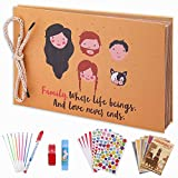 OUME Scrapbook Photo Album 80 Pagine a Mano DIY Album Fotografico 29*19cm Festa della Mamm...