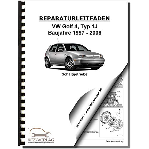 VW Golf 4 Typ 1J (97-06) 5 Gang Schaltgetriebe Kupplung 02J Reparaturanleitung