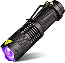 Led Torches UV Flashlight, Mini UV Flashlight with Zoom Function