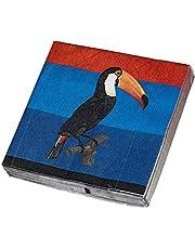 James Cook Papierservietten Motiv Tukan: 20 Papierservietten 33 x 33 cm