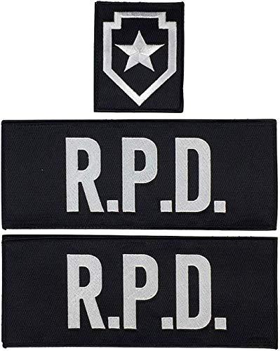 Super6props Resident Evil 2 Remake Leon Kennedy R.P.D. Parches de 3 Piezas para Chaleco táctico