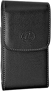 Wonderfly Vertical Holster for Nokia Lumia 928, 925, 920, 635 or 625, a Leather Protective Carrying Case with Belt Clip, Fits The Phone with Gel, Silicone or Other Thin Protective Case
