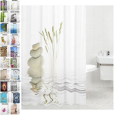 Sanilo Shower Curtain, Wide Choice, Mildew Resistant, 100% Waterproof, Machine Washable, Hooks are Included, Balance, 72-Inch by 78-Inch