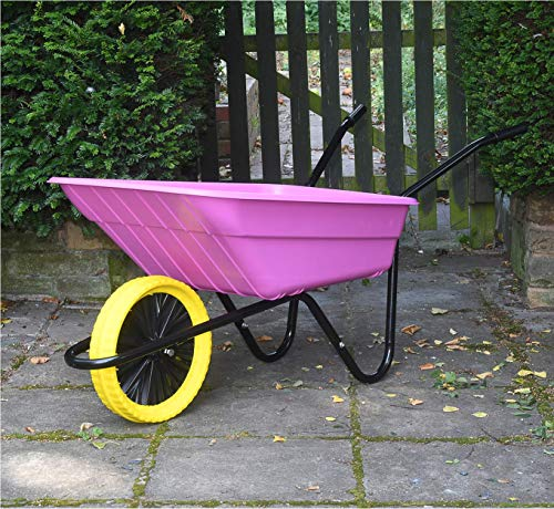Walsall BSHPINKPP 85L Heavy Duty Easiload Wheelbarrow...