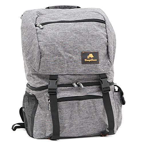 CampFeuer Rucksack mit Kühlfach| grau | 20 Liter Isoliertasche für BBQ, Camping, Strand und Outdoor Aktivitäten