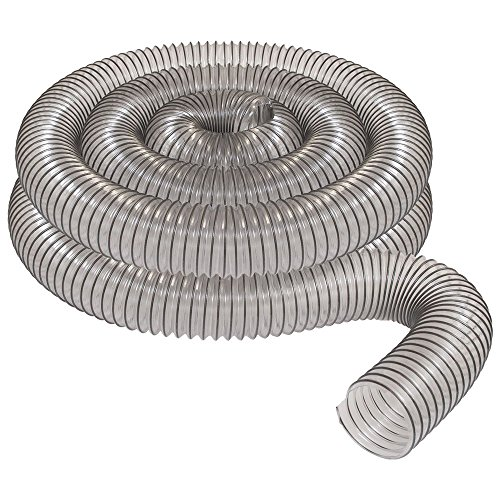 Pack of 10 Ducting Hose 3.000 in ID Heavy weight blue or clear PVC hose reinforced with a coated spring steel wire helix sizes 14/″ ID /& above not available with a coated wire