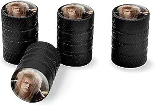 Graphics and More Labyrinth Goblin King David Bowie Portrait Tire Rim Wheel Aluminum Valve Stem Caps