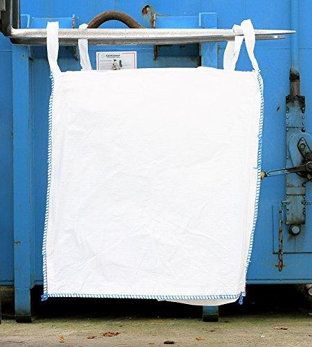 Big Bag 70 x 70 x 90 cm, 3 Stück, Schürze, Boden geschlossen, uv-stabilisiert, unbeschichtet, 4 Hebeschlaufen, SWL 1000 kg, SF 5:1